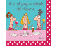 Vital Information Cocktail Napkins-DESIGN62403132