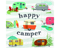 Happy Camper Cocktail Napkin-DESIGN62407358