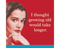 Growing Old Cocktail Napkins-DESIGN62407374