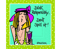 Don't Spill It Cocktail Napkins-DESIGN62408225