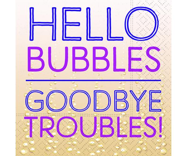 Hello Bubbles Cocktail Napkins