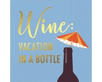 Vacation In A Bottle Cocktail Napkin-DESIGN62408411
