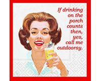 Call Me Outdoorsy Cocktail Napkins-DESIGN62408538