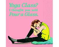 Yoga Class Pour A Glass Cocktail Napkins-DESIGN62408999