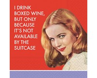 I Drink Boxed Wine Cocktail Napkin-DESIGN62409282