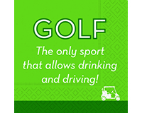 Golf Drink & Drive Cocktail Napkins-DESIGN62409463