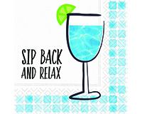 Sip Back Relax Cocktail Napkin-DESIGN62409470