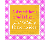 Day Without Wine Cocktail Napkins-DESIGN62409477