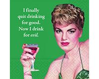 Drink For Evil Cocktail Napkins-DESIGN62409481