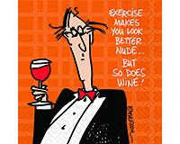 Exercise & Wine Cocktail Napkins-DESIGN62409490