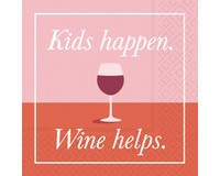 Kids Happen Wine Helps Cocktail Napkin-DESIGN62409828