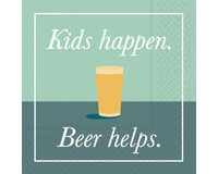 Kids Happen Beer Helps Cocktail Napkin-DESIGN62409842