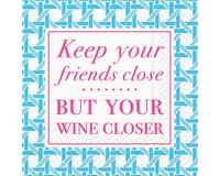 Keep Your Friends Close Cocktail Napkin-DESIGN62410061
