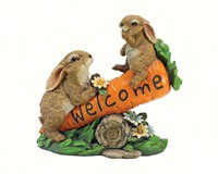 Bunny Bunch Welcome Statue-DTHF317387