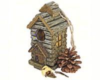 Backwoods Cabin Bird House-DTHF330885
