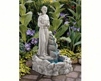 St. Francis Nature's Blessed Prayer Fountain + Freight-DTKY30367