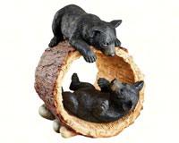 Rough Play Bear Cubs Statue-DTKY71206