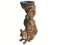 Three's A Crowd Squirrel Totem Statue-DTQM20497