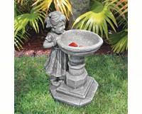 Georgina's Garden Gaze Bird Bath Statue-DTSH38018613