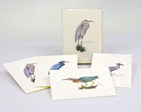Heron Notecard Assortment (2 each of 4 styles)-LEWERSNC01