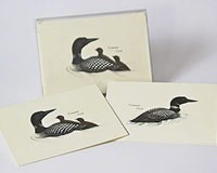 Loon Notecard Assortment (4 each of 2 styles)-LEWERSNC21