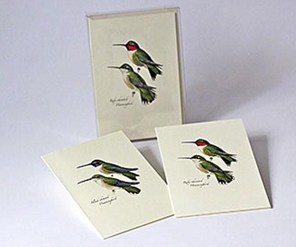 Peterson's Hummingbird Notecard Assortment (4 each of 2 styles)