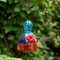 LunaLite Bell Hummingbird Feeder - Aqua/Red-EV3503AR