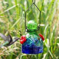 LunaLite Bell Hummingbird Feeder - Green/Blue-EV3503GB