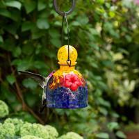 LunaLite  Bell Hummingbird Feeder - Orange/Blue-EV3503OB
