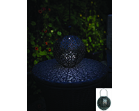 Casablanca Solar Lantern Bronze-EV4478B