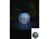 Casablanca Solar Lantern Silver-EV4478S
