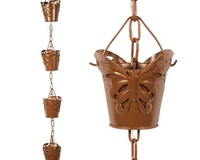 Lumina Butterfly Solar Illuminated Rain Chain-EV5415