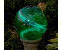 10 inch Green Swirl Illuminaire Gazing Globe-EV8141