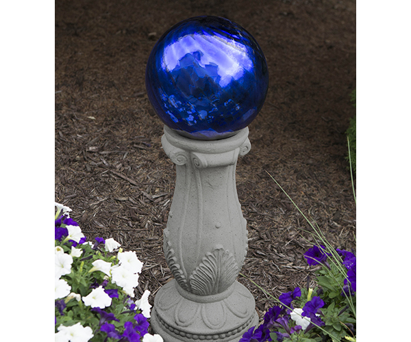10 inch Chrome Blue Swirl Globe Gazing Ball