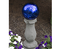 10 inch Chrome Blue Swirl Globe Gazing Ball-EV8191
