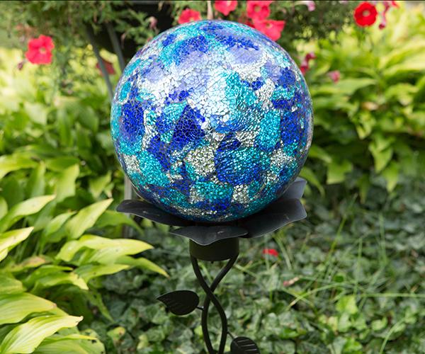 10 inch Blue/Aqua Mosaic Gazing Globe