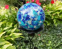 10 inch Blue/Aqua Mosaic Gazing Globe-EV8220