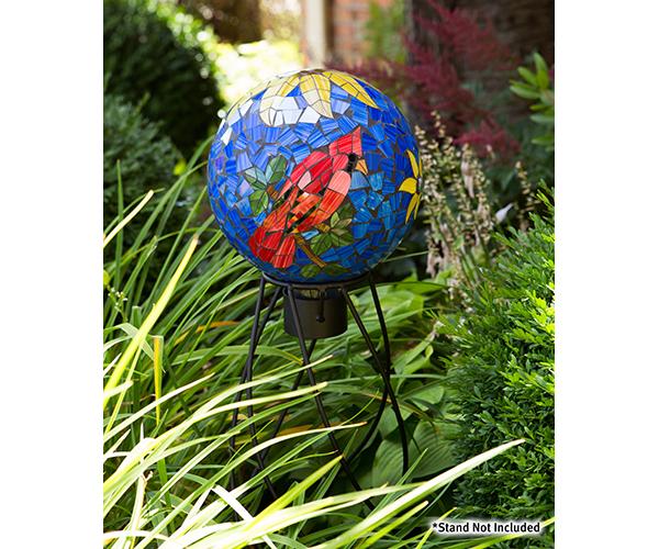 10 inch Cardinal Mosaic Globe