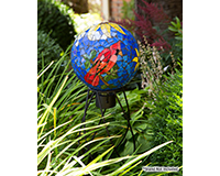 10 inch Cardinal Mosaic Globe-EV8234