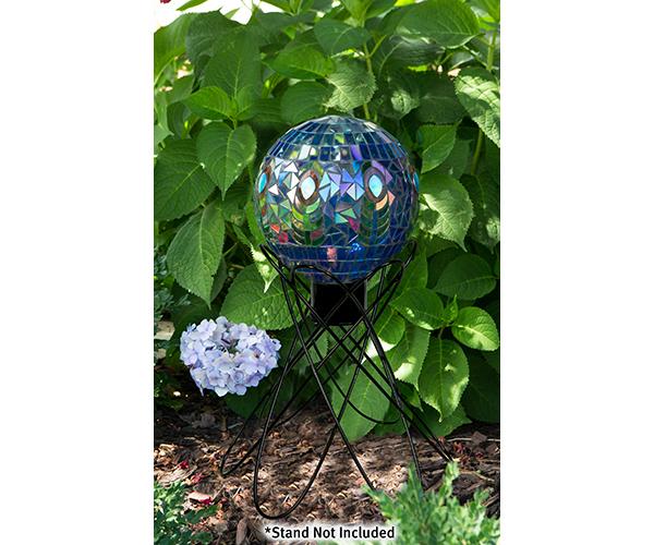 10 inch Translucent Peacock Mosaic Globe