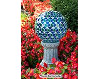 10 inch Aqua Opalescent Mosaic Globe-EV8245