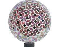 10 inch Fuchsia Oval-Diamond Mosaic Globe-EV8246