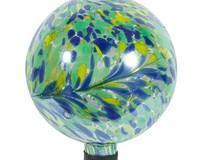 10 inch Iridescent Peacock Burst Globe-EV8256