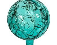 10 inch Teal Cranium Mosaic Globe-EV8282