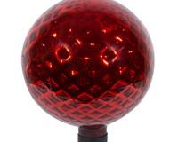 10 inch Red Diamond Embossed Globe-EV8815