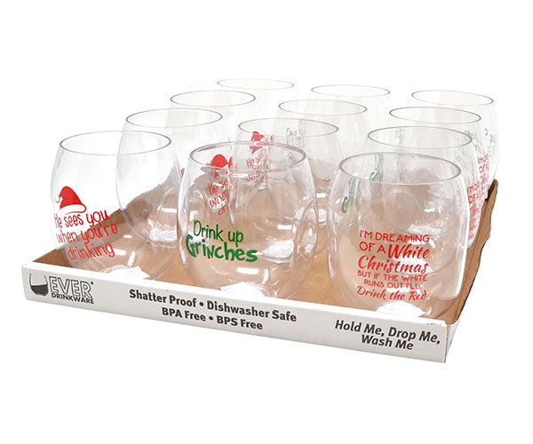 Best 3 Christmas Wine Tumbler Assortment