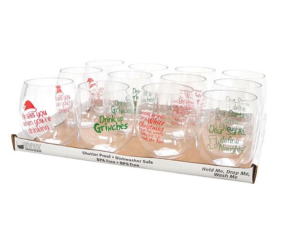Best 4 Christmas Wine Tumbler Assortment