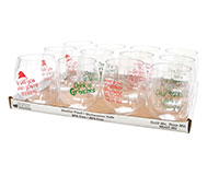 Best 4 Christmas Wine Tumbler Assortment ED1001-BC4