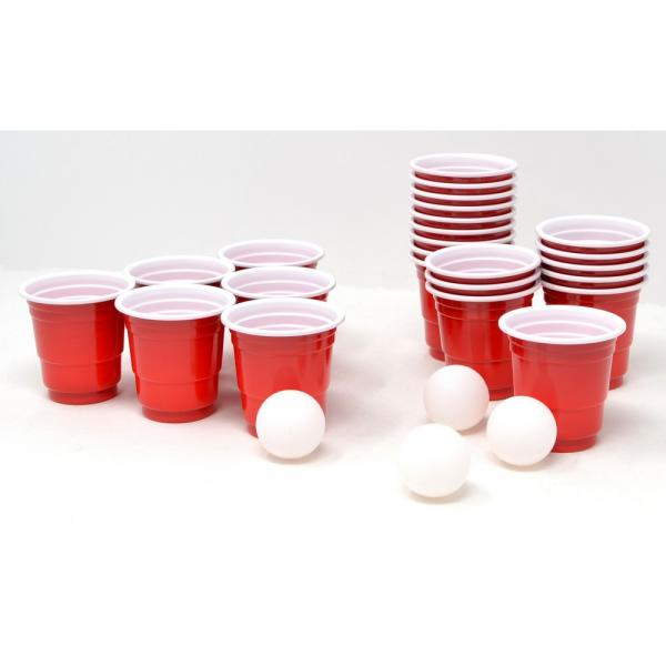 Shot Glasses with Ping Pong Balls