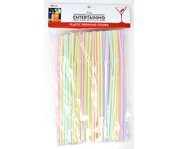 Plastic Straws - 100 pc
